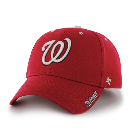 MLB Washington Nationals 47 Brand Adjustable Frost MVP Hat, Red, One Size