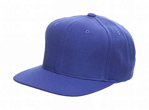 Original Yupoong Pro-Style Wool Blend Snapback Snap Back Blank Hat Baseball Cap 6098M - Royal