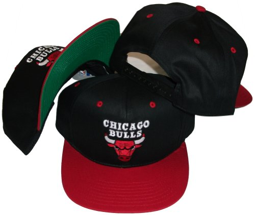 Chicago Bulls Black/Red Two Tone Snapback Adjustable Pl