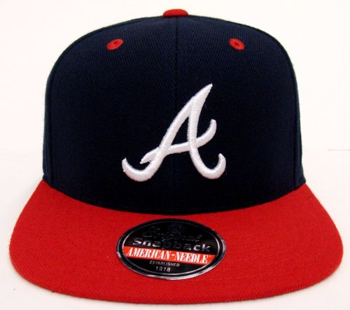 Atlanta Braves Retro Snapback AN Triple Cat Hat