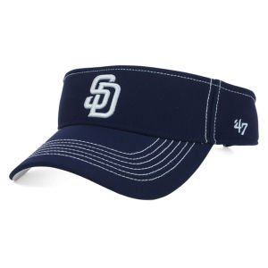 MLB San Diego Padres '47 Brand Defiance Visor, One Size, Navy