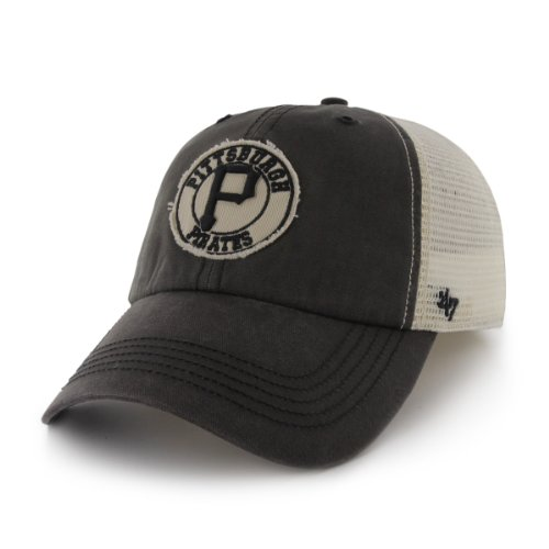 MLB Pittsburgh Pirates '47 Brand Cuddyhook Stretch Fit Cap (Charcoal, One Size)