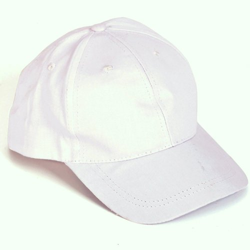Plain White Baseball Cap Low Crown Hat