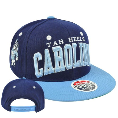 NCAA Tar Heels North Carolina Super Star 32/5 Zephyr Snapback Flat Bill Hat Cap