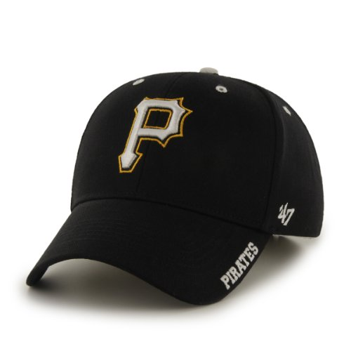 MLB Pittsburgh Pirates 47 Brand Adjustable Frost MVP Hat, Black, One Size