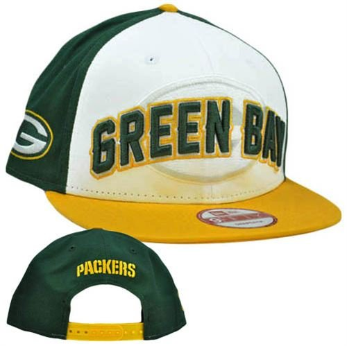 NFL Green Bay Packers Draft 9Fifty Snapback Cap, Dark Green/White/Athletic Gold, One Size Fits All
