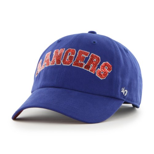 MLB Texas Rangers '47 Brand Natalie Sparkle Adjustable Cap, One Size, Royal