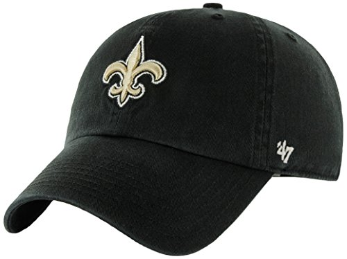NFL New Orleans Saints Clean Up Adjustable Hat, Black, One Size Fits All Fits All