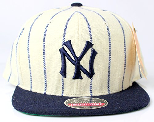 New York Yankees MLB American Needle 1921 Vintage Pinstriped Original Snapback Cap