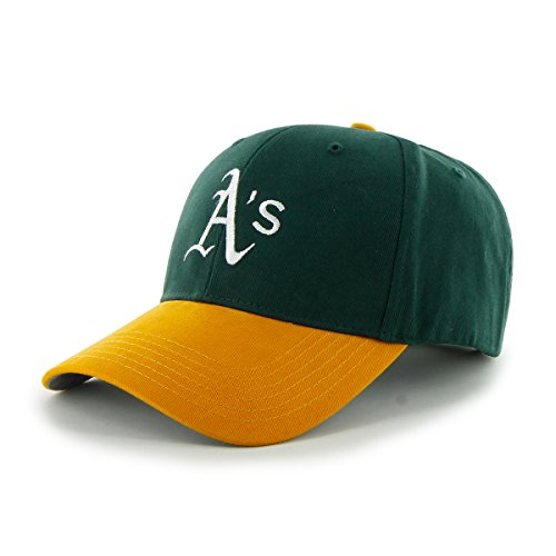 MLB Oakland Athletics Basic MVP Adjustable Hat, Kids, Dark Green