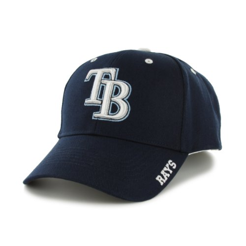 MLB Tampa Bay Rays 47 Brand Adjustable Frost MVP Hat, Navy, One Size