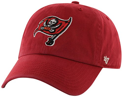 NFL Tampa Bay Buccaneers Clean Up Adjustable Hat, Red, One Size Fits All