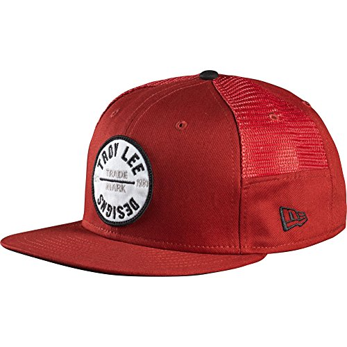 Troy Lee Designs Mens Bullseye Adjustable Hat, Red, One Size Fits All