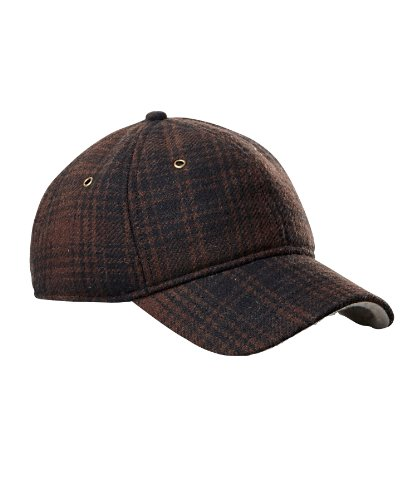 Woolrich Hunt Plaid Wool Ball Cap, BROWN/BLACK (Brown)