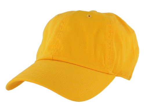 Nyfashion101 (TM) Unisex Adjustable 6-Pannel Low-Profile Baseball Cap LOW100-Yellow