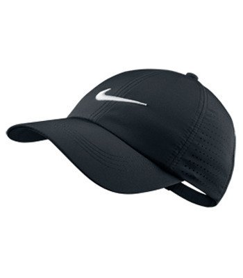 Nike Youth Perforated Cap, Black/White, One Size
