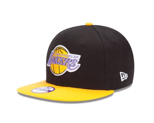 NBA Los Angeles Lakers 9Fifty Youth Snapback Cap (Black/Gold, One Size Fits All)
