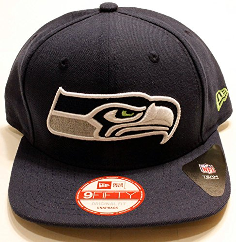 Seattle Seahawks New Era Met Pop Snapback Hat OSFM NFL Football Adjustable Cap