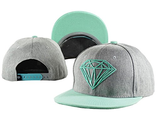 Aidan Ellazar Diamond Cap Men & Women's Baseball Snapback Hats Grey 3 One Size