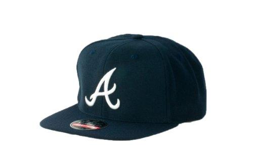 MLB Men's Atlanta Braves Cooperstown 400 Snapback Cap (Navy, Adjustable)