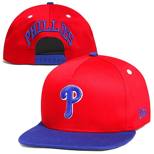 New Era MLB 9Fifty Turnover Snapback 2 Tone Cap Philadelphia Phillies (Red/Blue, M/L)