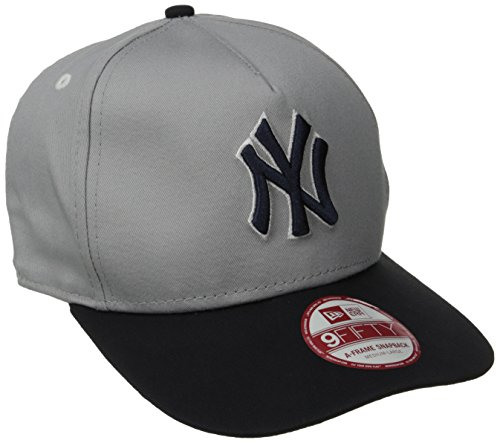 MLB New York Yankees 9Fifty Turnover Snapback 2 Tone Cap, Gray/Blue, Medium/Large