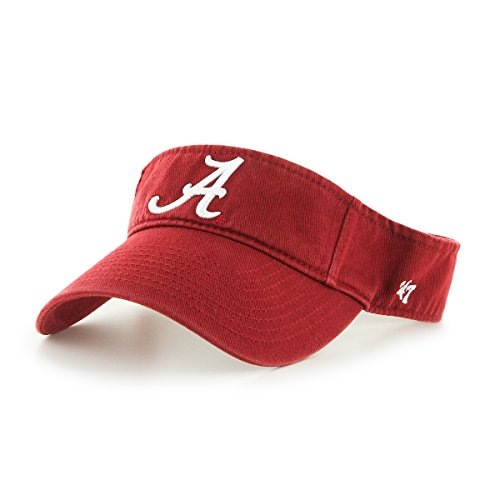 NCAA Alabama Crimson Tide '47 Clean Up Adjustable Visor, Razor Red, One Size