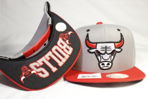 Mitchell & Ness Grey Tone Special Custom-made Chicago Bulls Snapback w/ Undervisor Embroidery!!