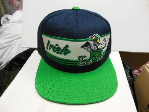 NCAA Notre Dame Fighting Irish Team Color Snapback Hat, One Size Fits All, Navy/Green
