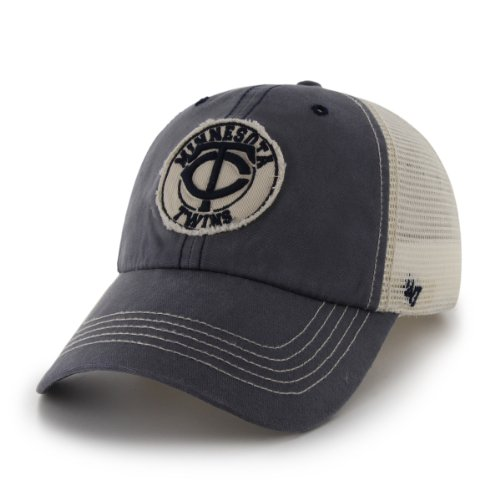 MLB Minnesota Twins '47 Brand Cuddyhook Stretch Fit Cap (Navy, One Size)