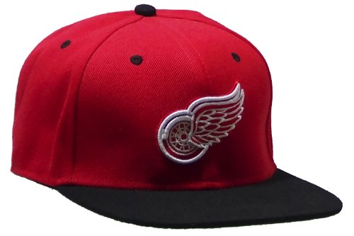 Detroit RedWings TISA Red Snapback with Black Brim