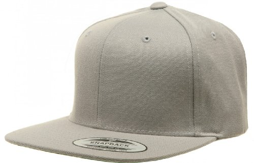 Yupoong 6089 6-Panel Structured Flat Visor Classic Snapback - SILVER - OS