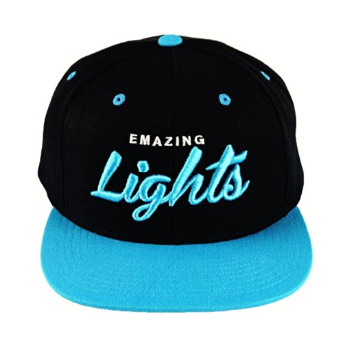 Emazing Lights Snapback Hat (Neon Blue)