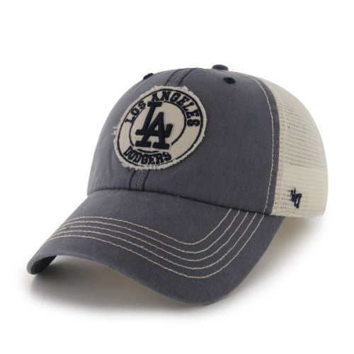 MLB Los Angeles Dodgers '47 Brand Cuddyhook Stretch Fit Cap (Navy, One Size)
