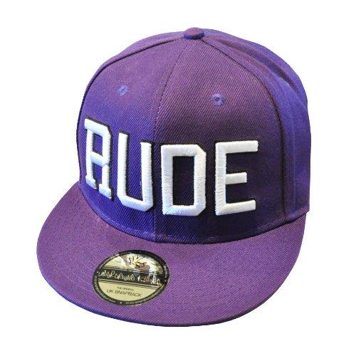 Underground Kulture RUDE Purple Snapback Baseball Cap