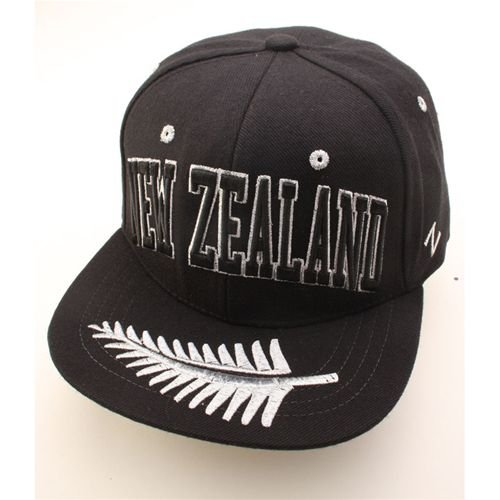 New Zealand Super Star World Snapback Cap, Black