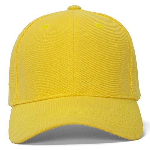 TopHeadwear Blank Baseball Hats with Adjustable closure - Banana Yellow