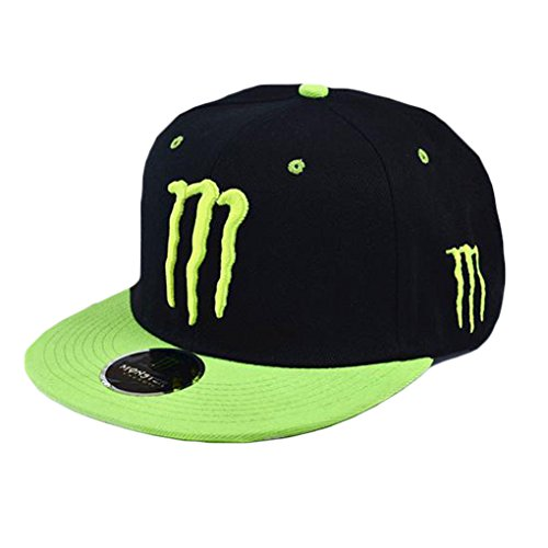 XTX Men Women Hip Hop Embroidered Monster Snapback Baseball Hat Cap
