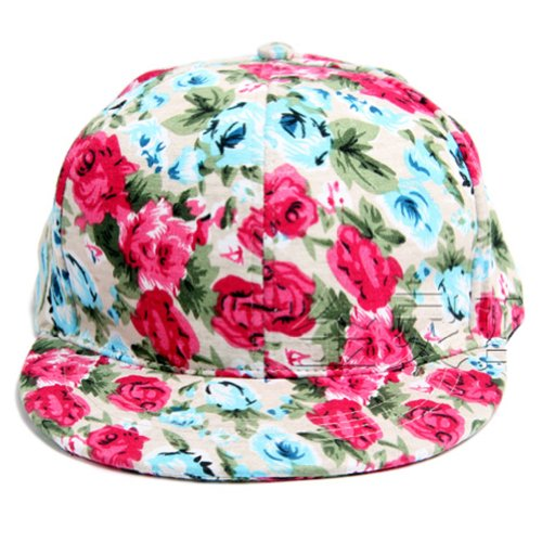 Women Rose Flower Floral Blossom Antique Vintage Snapback Cap FFH144BEI