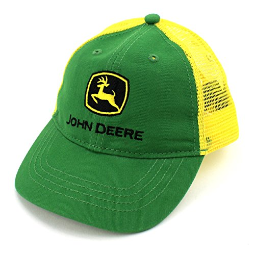 John Deere Big Boys Trademark Trucker Ball Cap, Green/Green, Youth
