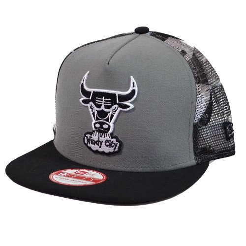 Chicago Bulls New Era Meshed Urban Camo Snapback Hat