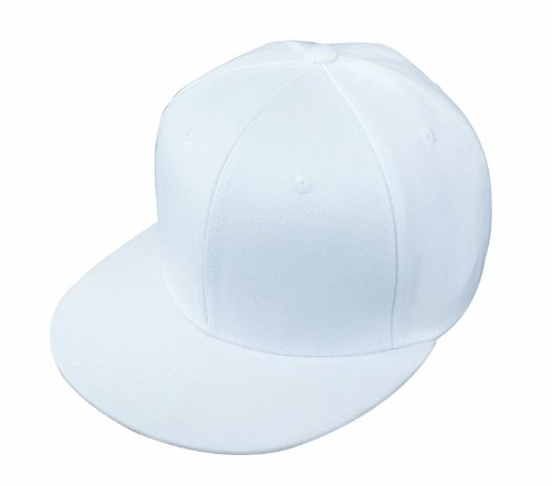 blank Baseball Cap Adjustable Hat in White