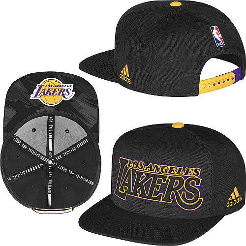 Los Angeles Lakers NBA Boys Size 4-7 Draft Snapback Black Hat