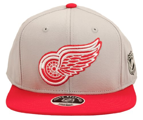 Detroit Red Wings Reebok Grey Team Snapback Adjustable Hat (Youth)