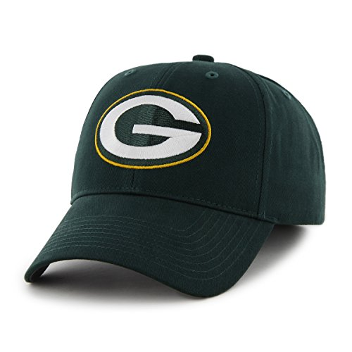 NFL Green Bay Packers Kid's '47 Brand Basic MVP Adjustable Hat, Dark Green
