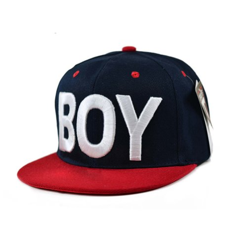 FanRun Boys' Girls' Cotton Baseball Sun Hat Red and Navy Blue