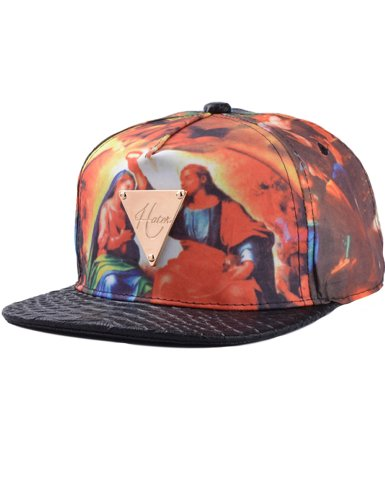 Camii Mia Women's Vintage Oil Painting Pattern Baseball Cap (One Size (7 1/4 - 7 1/2), Multicolor)