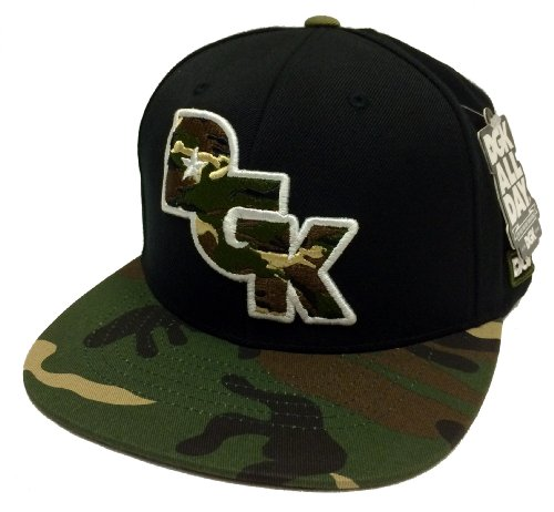 DGK Dirty Ghetto Kids Stagger Black & Camo Snapback