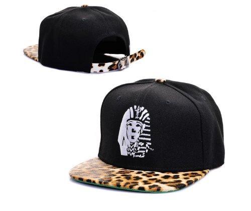 Last king black leopard bboy brim hat Adjsutable Snapback Baseball Hip-hop Cap skateboard