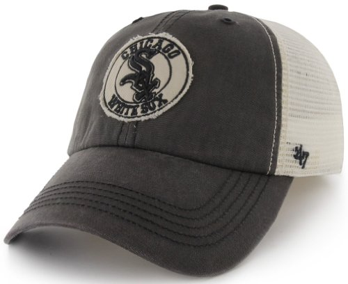 MLB Chicago White Sox '47 Brand Cuddyhook Stretch Fit Cap (Gray, One Size)